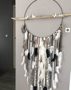 Attrape Reve Chambre Bebe : attrape r ves dreamcatcher geant en bois flott coloris taupe blanc et noir bebe ~ Teatrodelosmanantiales.com Idées de Décoration