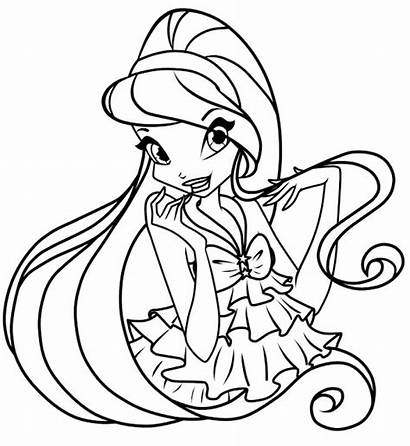 Coloring Winx Pages Club Printable