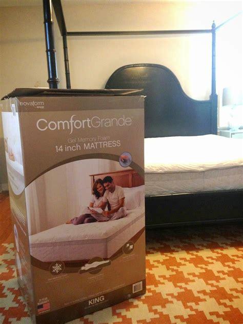 bought  bed   box costco novaform foam mattress