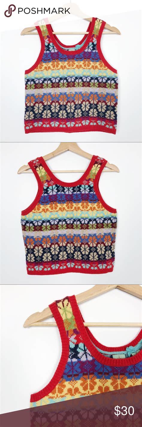 anthropologie monogram fair isle sweater vest sweater vest fair isle sweater monogram sweater