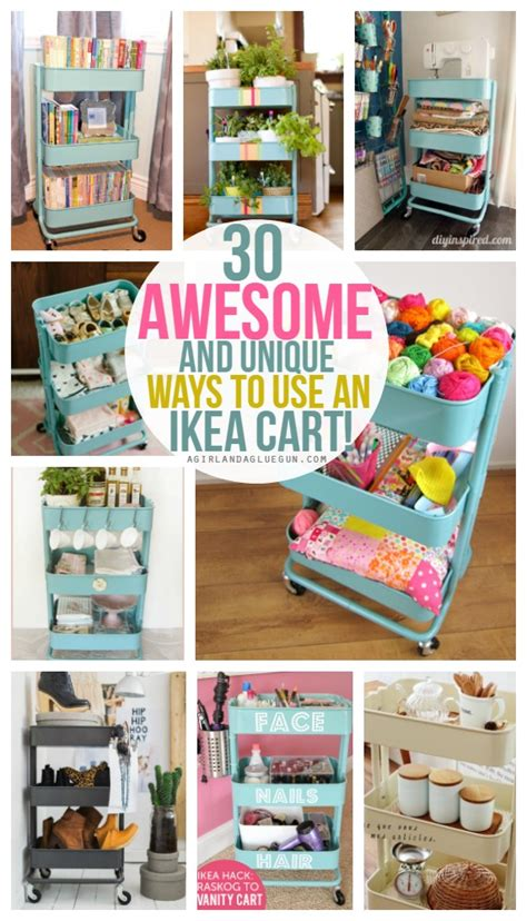 bathroom counter storage ideas 30 and unique ways to use an ikea raskog cart a