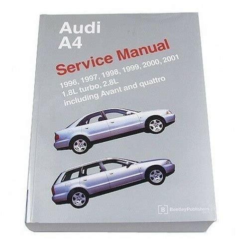 service repair manual free download 2001 audi s4 seat position control audi a4 avant quattro 1996 2001 1 8l 2 8l service repair manual bentley ebay