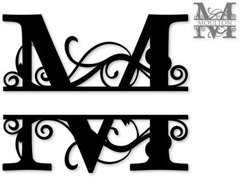 split monogram svg attic cricut pinterest