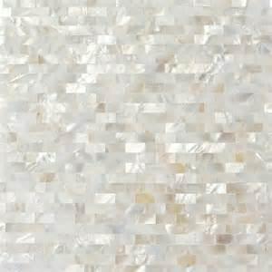 groutless kitchen backsplash serene white bricks seamless pearl shell tile