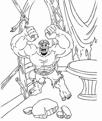 Hulk Coloring Pages Incredible Super Printable Heroes
