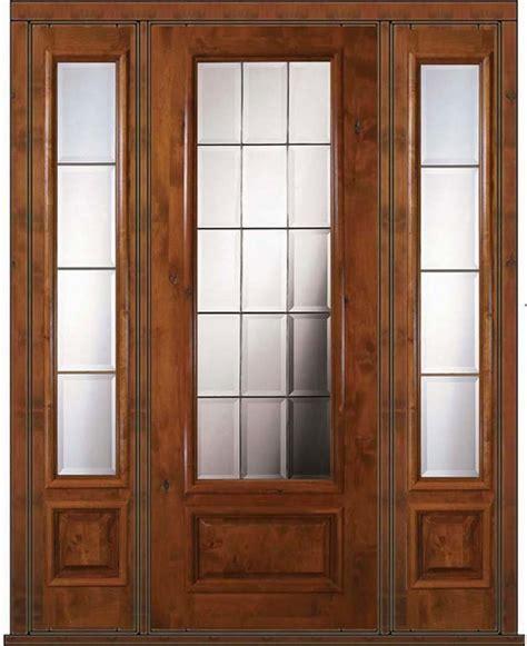 prehung side lights door 96 wood alder 3 4