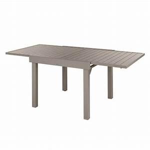 Table Aluminium Extensible : table de jardin extensible piazza aluminium 180 x 90 cm moka table de jardin eminza ~ Teatrodelosmanantiales.com Idées de Décoration
