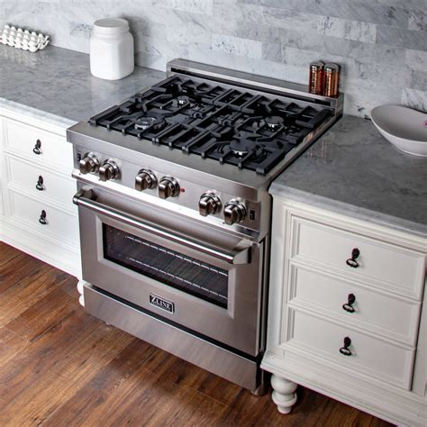 zline gas range rg30 stainless professional ra30 steel cu ft inch oven ranges legs grill dual iron cast porcelain cooktop