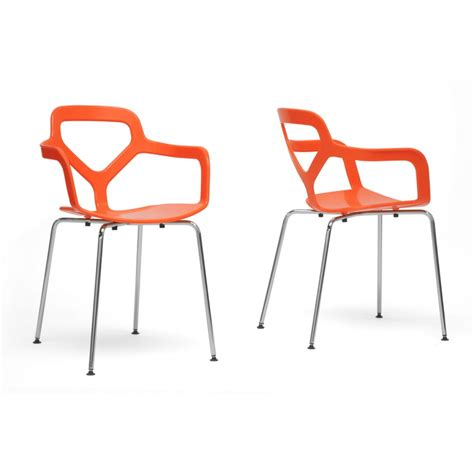 miami orange plastic modern dining chair see white