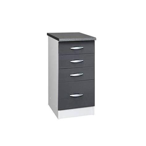 element de cuisine bas meuble cuisine bas 40 cm 4 tiroirs oxane gris achat