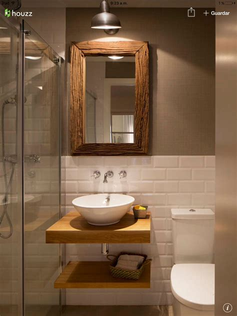 Half White Tiles With Contrast Brown Wall And White And
