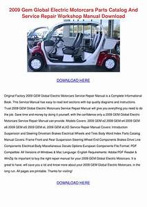 2009 Gem Global Electric Motorcars Parts Cata By
