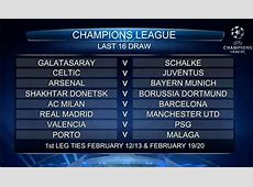The Champions League Round of 16 draw