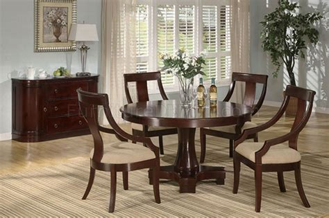 cherry finish classic dinning room w dining table