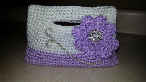 crochet  girls handbag clutch purse crochet