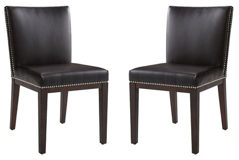 vintage brown leather dining chair set of 2 from sunpan