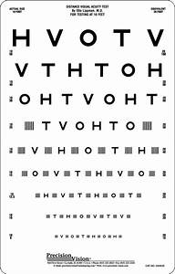 10 Foot Vision Chart Hotv Interaction Bar Distance Eye Chart 10ft Precision