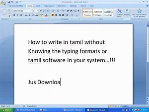How to Type Tamil in Pc
