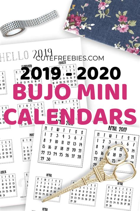bullet journal calendar printable stickers cute