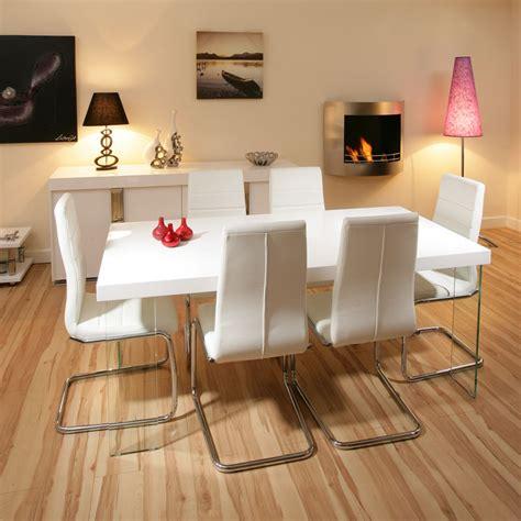 stunning dining set white gloss table  white modern