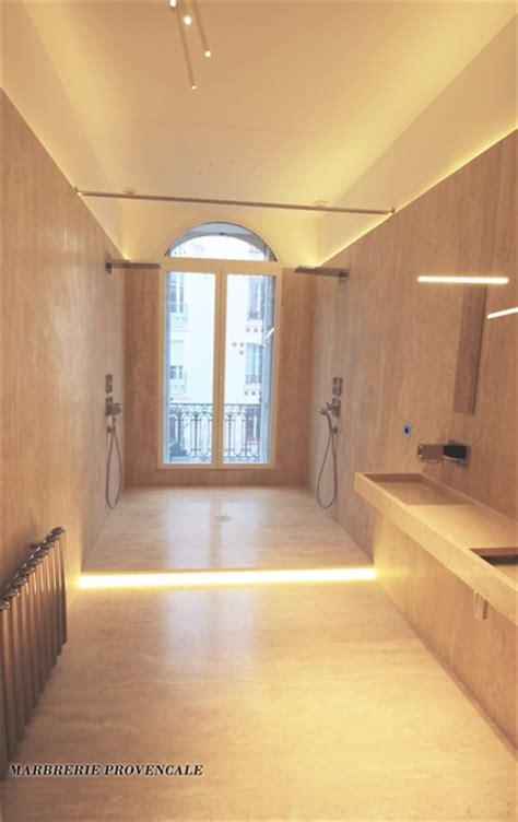 salle de bain provencale salle de bains en travertin navona marbrerie proven 231 ale