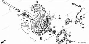 Honda Scooter 2007 Oem Parts Diagram For Front Wheel