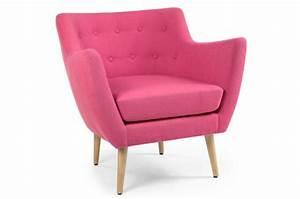 Fauteuil Rose Scandinave : fauteuil scandinave tissu rose lydum design sur sofactory ~ Teatrodelosmanantiales.com Idées de Décoration
