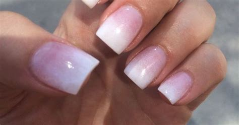 nails  hana pink  white ombre sns yelp pinteres