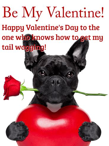 tail  wagging happy valentines day card