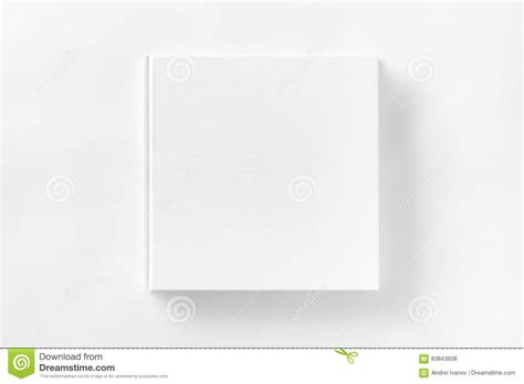 mockup  closed blank square book  white textured paper