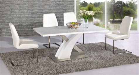 high glass dining table full white high gloss glass dining table and 4 chairs
