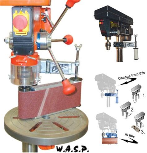 wasp drill press sander attachment toolmonger