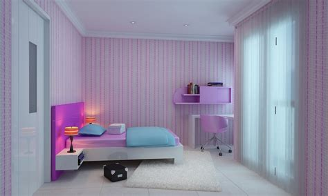 Light Pink And Purple Girl Rooms Interior Designs