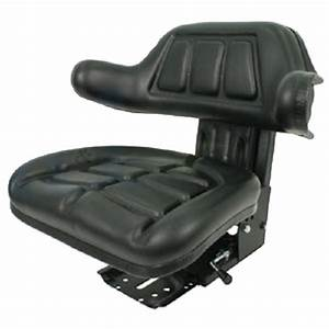 Black Wrap Around Back Tractor Suspension Seat Ford    New