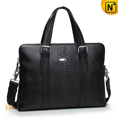Cowhide Briefcase by Black Cowhide Leather Slim Briefcase For Cw914004