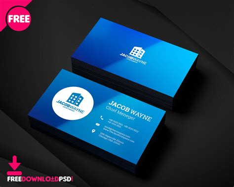 real estate business card psd  real estate business