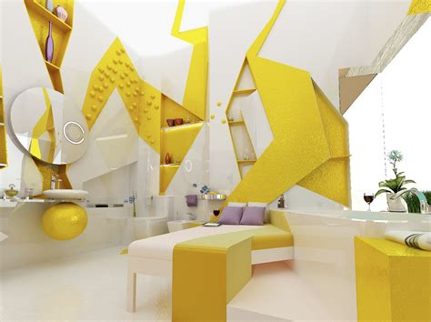 yellow white bedroom ensuite interior design ideas
