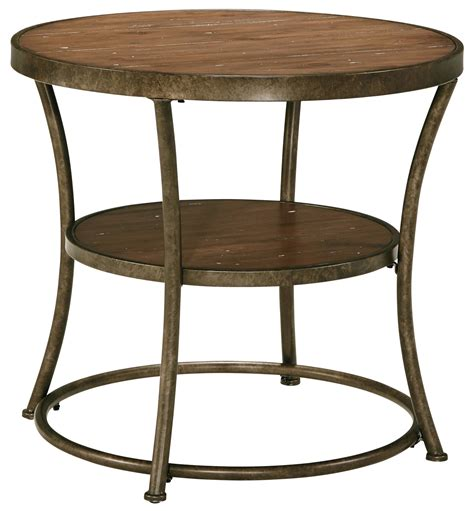 round metal end table rustic metal frame round end table with distressed pine