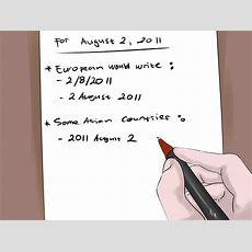 How To Write Dates 7 Steps (with Pictures) Wikihow