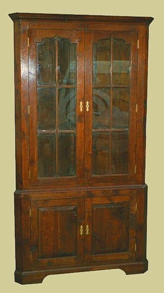 tall corner cupboards oak cherry authentic handmade