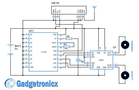 Rc Receiver Wiring Diagram by Simple Rc Car Transmitter And Receiver Circuit Diagram
