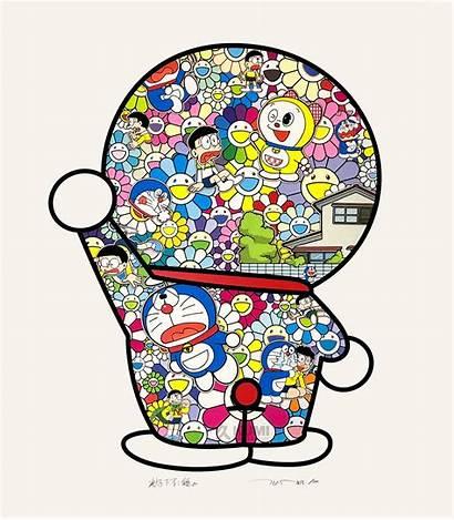 Murakami Takashi Doraemon Flowers Field Contemporary Prints