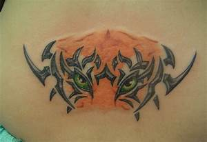 Tribal Hibiscus Designs 53 Angry Tiger Tattoos On Back