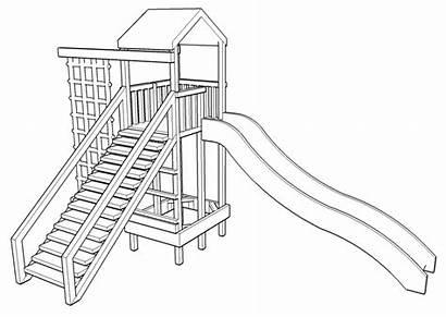 Drawing Slide Playground Climbing Frame Swings Swing
