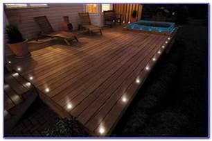 solar deck lights flush mount decks home decorating