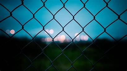 Grid Fence Mesh Blur Bokeh Highlights Security