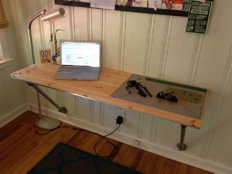 diy wall mounted desk for laptop wood minimalist desk