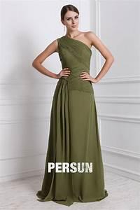 robe mousseline longue encolure asymetrique ornee de With robe mousseline longue