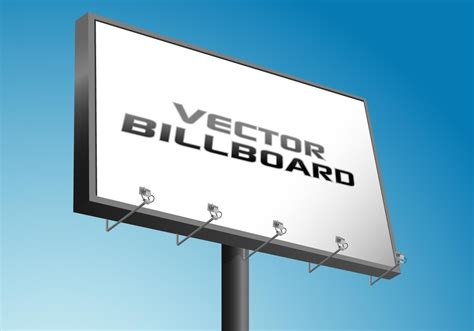 advertising billboard   vector art stock