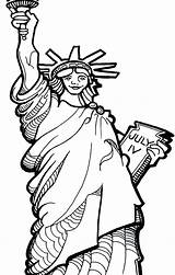 Coloring Statue Liberty Pages Oscar Torch Drawing Printable Getdrawings Getcolorings Patriotic sketch template